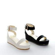 Women's Chunky Flatform Sandals Wedge Platform Flat Ladies Summer Party Shoes