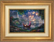 Thomas Kinkade Tangled 12 x 18 Limited Edition S/N Canvas (Gold Frame) Disney