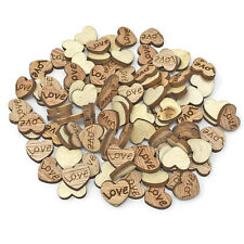 Love Hearts Wooden Shabby Chic Craft Scrapbook Vintage Confetti Hearts 10mm