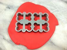Quadruple Dog Biscuit Cookie Cutter CHOOSE YOUR OWN SIZE! Doggy Treat