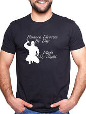 FINANCE DIRECTOR BY DAY NINJA BY NIGHT PERSONALISED T SHIRT