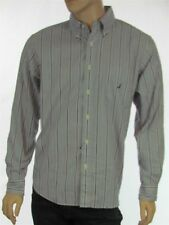 Nautica Men's Gray Striped Long Sleeve Button Down Collared Shirt New with Tags