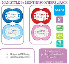MAM Style 6+ Months soother 2 pack (Boy/Girl Colour Available)