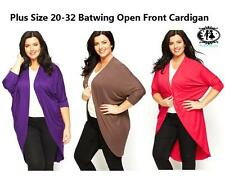 LADIES PLUS SIZE 20-32 BATWING LONG CARDIGAN WATERFALL JUMPER SWEATER TOP BLOUSE