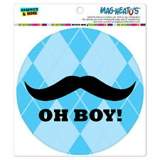 MAG-NEATO'S™ Car Refrigerator Vinyl Magnet Funny Nerdy Mustache