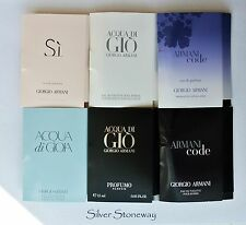 Giorgio Armani Women and Men Fragrance Samples of Your Choice