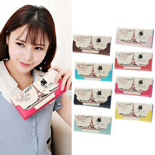Women Girl Cute Print Leather Long Button Purse Wallet Card Holder New Arrive