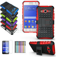 Rugged Shockproof Hybrid Hard Stand Case Cover For Samsung Galaxy Core 2 G355H