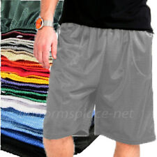Mens Mesh Basketball Shorts Unisex Workout Gym Pockets Short Pants Colors S-5XL