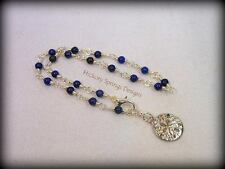 Lapis Lazuli Silver Wire Wrapped Anklet ~ Any Size