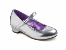 Cherokee Toddler Little Girls Shiny Silver Mary Jane Dress Shoes 6 or 7 - NEW