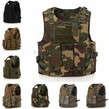 New Molle Tactical Military Swat Army Airsoft Combat Assault Plate Carrier Vest