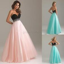Womens Formal Gown Jewel Prom Cocktail Evening Full Length Bridesmaid Dress G72