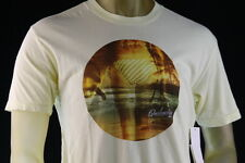 "QUIKSILVER ""OFFSHORE MTZ"" YELLOW GRAPHIC T-SHIRT BEACH GRAPHIC Size Medium/Large"