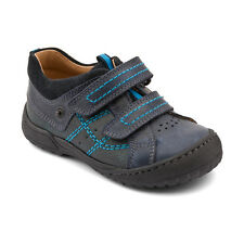 Start-rite Naples New Infant Boys First Walking Shoes In Navy Leather
