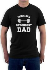 Fathers Day Gift Idea Worlds Strongest Dad Gym Bodybuilder T-Shirt Cool Design