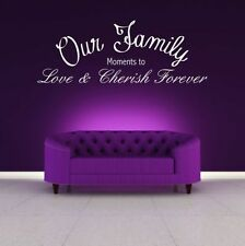 OUR FAMILY LOVE WALL ART WALL QUOTE STICKER DECAL MURAL SELF ADHESIVE VINYL