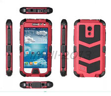 Redpepper Metal Al Shockproof Tempered Glass Case for Samsung Galaxy S4 mini