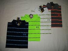 NWT UNDER ARMOUR MEN'S HEAT GEAR GOLF LOOSE FIT STRIPES POLO SHIRTS