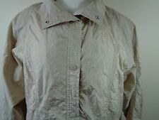 Tudor Court by Haband Women's  Crinkle Fabric Windbreaker with lining size L