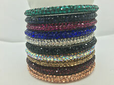Sparkly Crystal Bangles Not Rhinestone Good Quality Bling New Party Jewellery