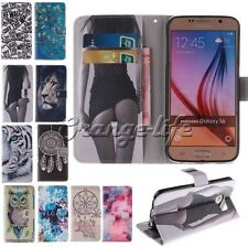 For Samsung Smart Phones Various pattern Slot Flip PU Leather Wallet Case Cover