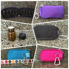NEW ESSENTIAL OIL CARRYING CASE KEYCHAIN SAMPLE PURSE KIT YOUNG LIVING W/ VIALS