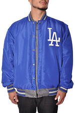 Official MLB Licensed Los Angeles Dodgers Team Reversible Wool Button Up Jacket