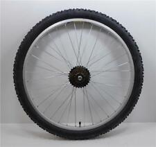 "26 "" Alloy REAR Mountain Bike Wheel & 7 SPEED SHIMANO FREEWHEEL + TYRE & TUBE"