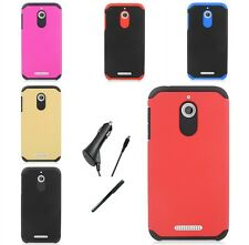 For HTC Desire 510 Slim Protector Shield Hybrid Cover Case CAR CHARGER STYLUS