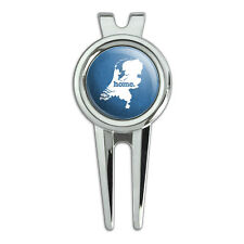 Netherlands Home Country Golf Divot Repair Tool and Ball Marker