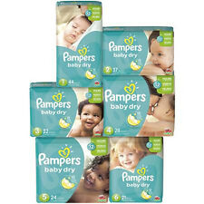 Pampers Baby Dry Diapers Size 1, 2, 6 CHEAP!!!