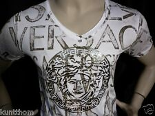 NWT Mens GOLD WHITE Medusa SEXY Short Sleeve T-SHIRT-Life is Lovely-Live it!!!