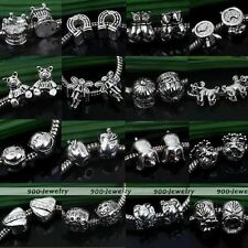 5X Tibetan Silver Big Hole European Spacer Loose Bead Finding Fit Charm Bracelet