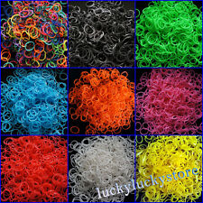 10 Colors Rainbow Rubber Bands Refill Bracelet Funny Loom Bands Kits, Clips free