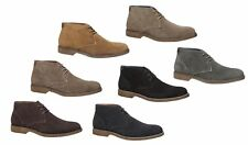 MENS HUSH PUPPIES TERMINAL CAMEL COPPER SUEDE  TAN LACE UP WORK CASUAL BOOTS