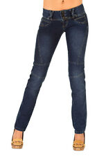 New Brazilian Butt Lift Straight Leg Jeans Colombian Style Blue Color IF-219BLUE