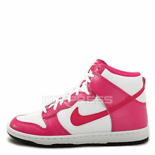 WMNS Nike Dunk High Skinny [429984-107] NSW Casual White/Fireberry-Black