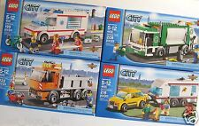 LEGO City Dirt Bike 4433 Dump Truck 4434 Police Prisoner Transport 7286