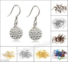 Lots 100/500Pcs Mixed Coil Wire Earring Hooks Jewelry Making Findings DIY 19mm