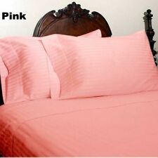 Canadian Bedding Items)- Pink (Solid/Striped) 1000TC EGYPTIAN COTTON