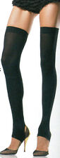 Leg Avenue 6310 Thigh High Footless Stirrup Leg Warmers One Size: Regular Black