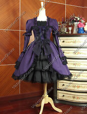 Gothic Lolita Lace Steampunk Cosplay Dress Women Girl Halloween Costume Punk 233