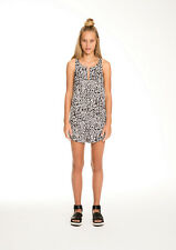 NEW THE FIFTH LABEL STELLA PLAYSUIT LEOPARD BLACK & WHITE PRINT SM TO XL