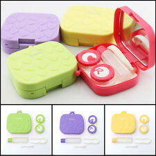 Mini Pocket Travel Contact Lens Soaking Case Mirror Box Storage Container Holder