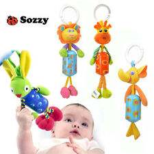 sozzy cute animal elephant lion deer rabbit bed hang campanula rattle baby toy
