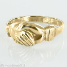 Hallmarked 9ct Yellow Gold Claddagh (Fede) Style Friendship Ring