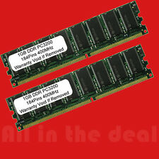 2 X 1GB 2GB Kit PC3200 High Density DDR400 Mhz 184pin Desktop MEMORY for AMD