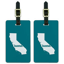 California CA Home State Luggage Suitcase ID Tags Set of 2