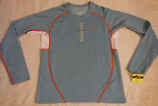 UNDER ARMOUR SMALL LOOSE STAY DRY/COOL DRY,L/S,BLUE ORANGE,RUN,EXCELLENTNT